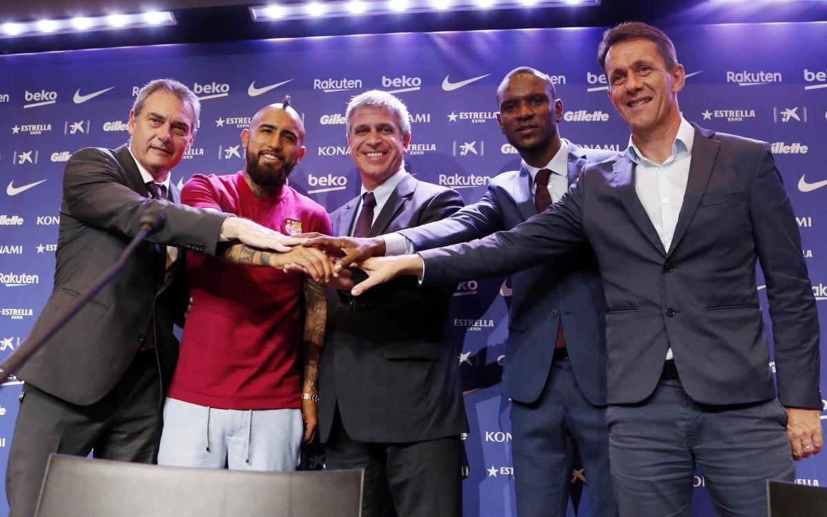 """Arturo Vidal: """"Treballaré de valent per donar alegries a la gent del Barça"""""""