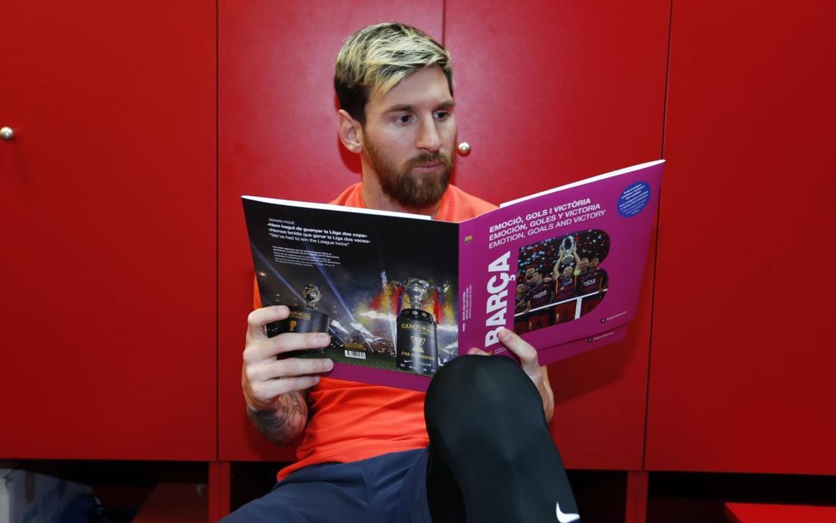 El llibre del Barça 'Emoció, gols i victòria', ja a la venda