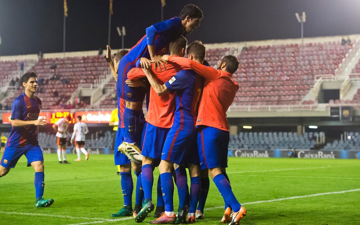 Barça B – València Mestalla: Més líders! (3-1)