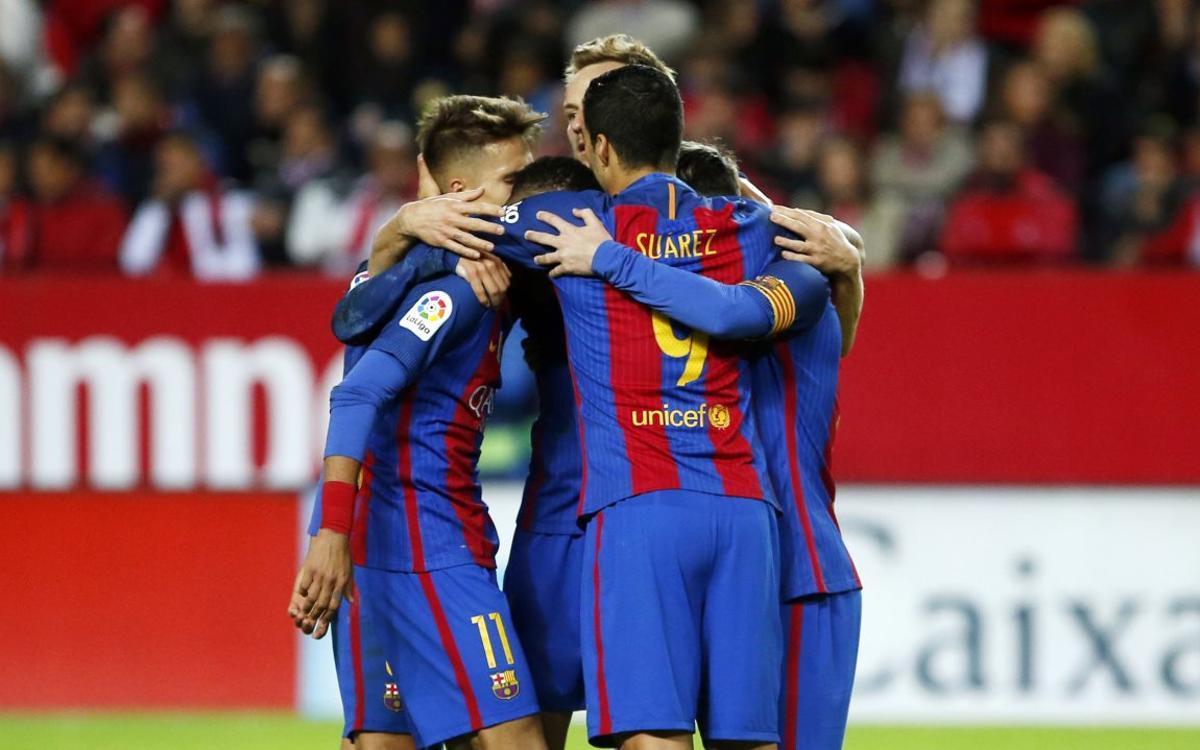 El Barça, el único equipo que conquista el Pizjuán