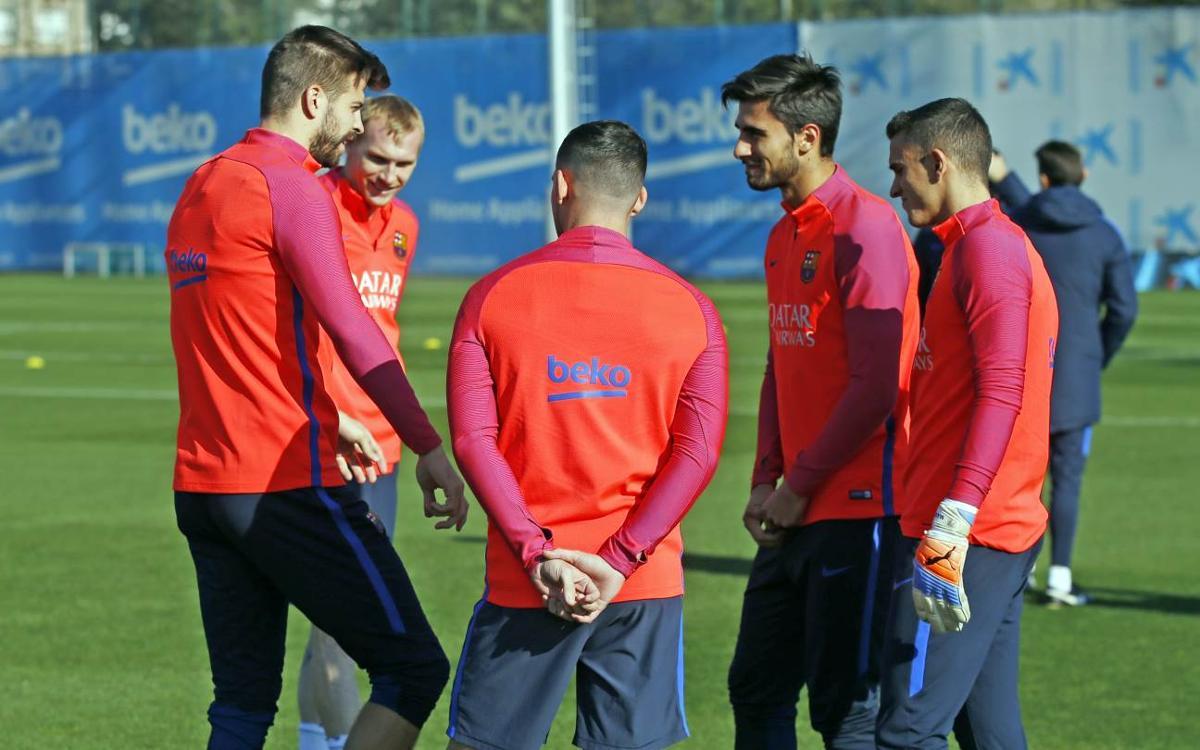 FC Barcelona hold training session Wednesday at the Ciutat Esportiva