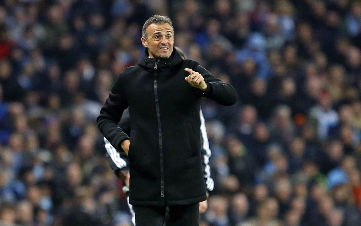 Fc Barcelona Manager Luis Enrique We Played 40 Great Minutes