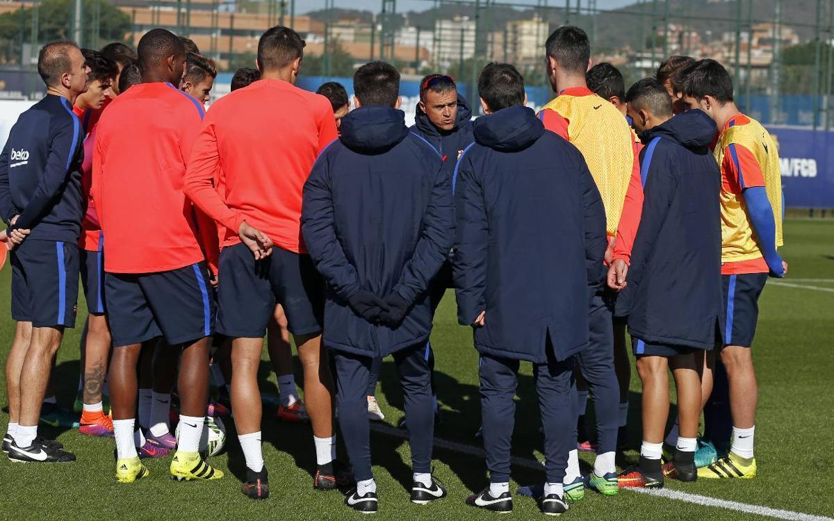Joint training session at the Ciutat Esportiva