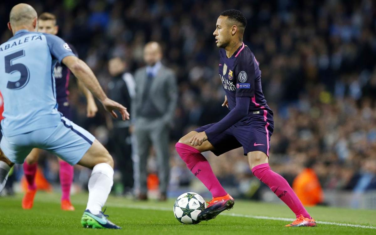 FC Barcelona's 3-1 defeat at Manchester City by the numbers