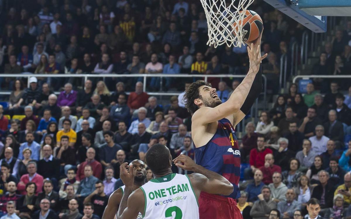 FC Barcelona Lassa - Panathinaikos: Tornen al camí del triomf (72-57)