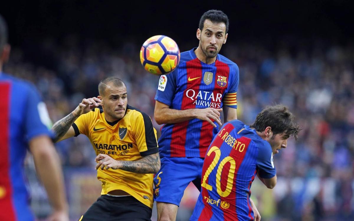 FC Barcelona midfielder Sergio Busquets: 'We tried but we were unlucky'