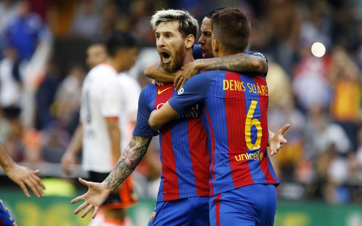 Valencia 2-3 FC Barcelona: Late penalty wins nail-biting thriller