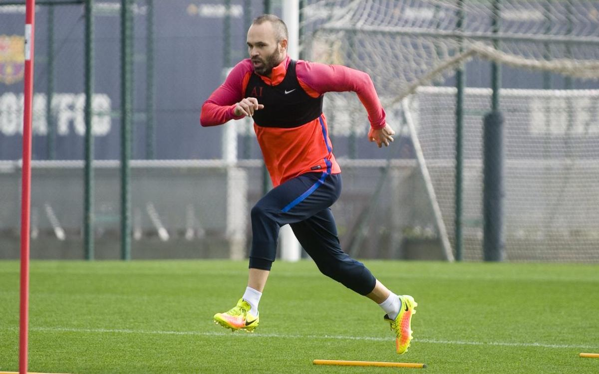 FC Barcelona's Andrés Iniesta well on the road to recovery