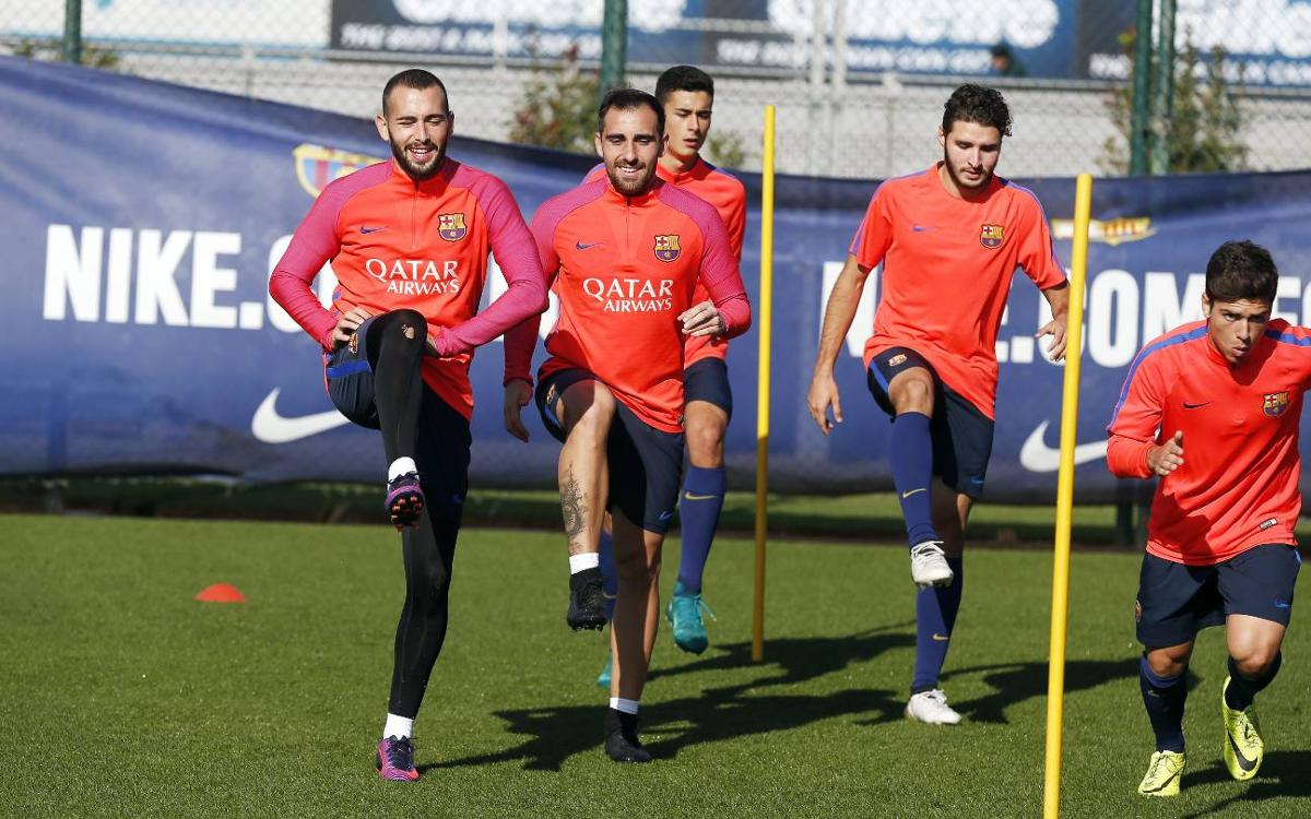 Last FC Barcelona training session of the week