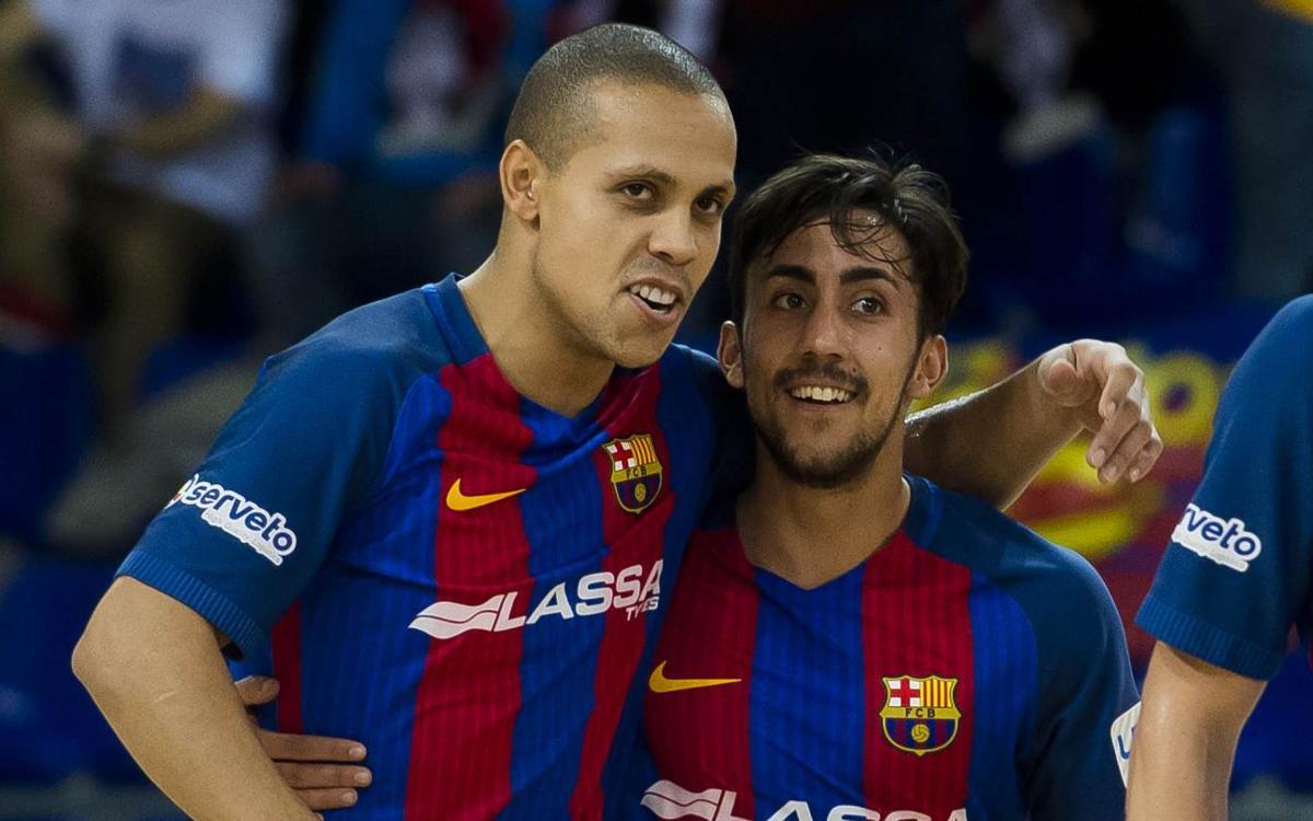 FC Barcelona Lassa - Santiago Futsal: Espectacle final al Palau (7-1)