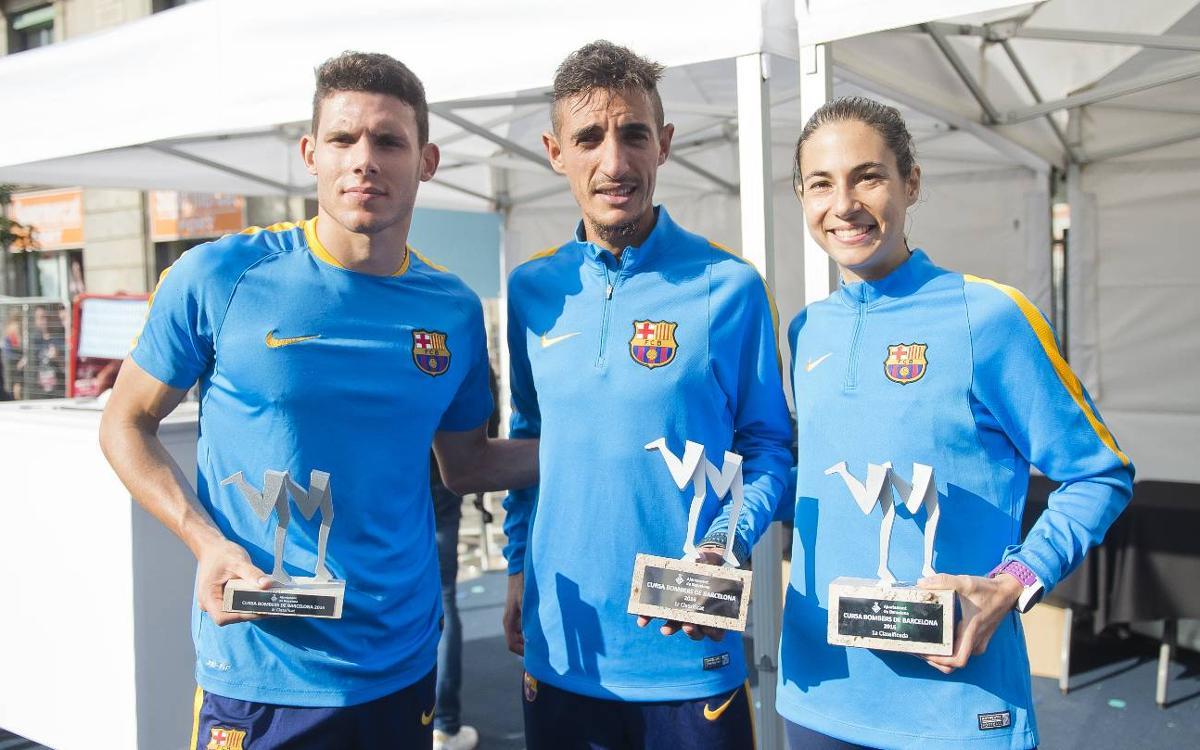 Ilias Fifa i Marta Galimany, guanyadors de la Cursa dels Bombers