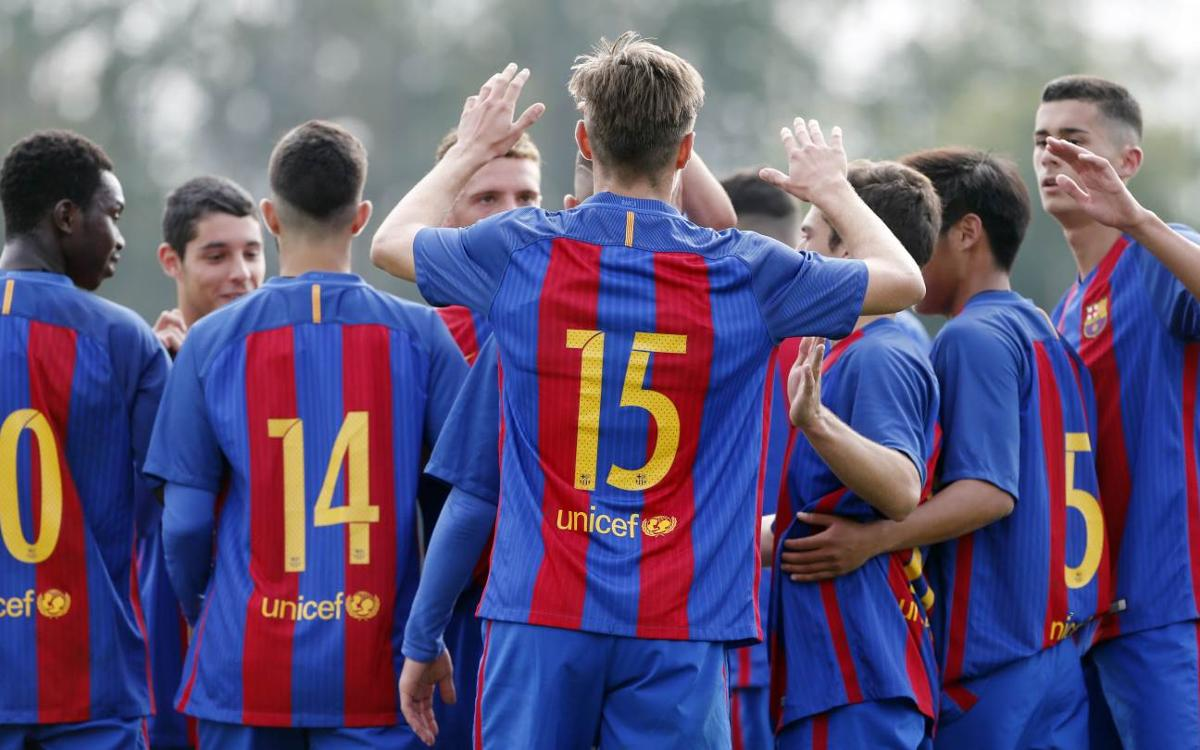 [U19 FOOTBALL] FC Barcelona 10-0 Santo Domingo: Sunday goal-fest