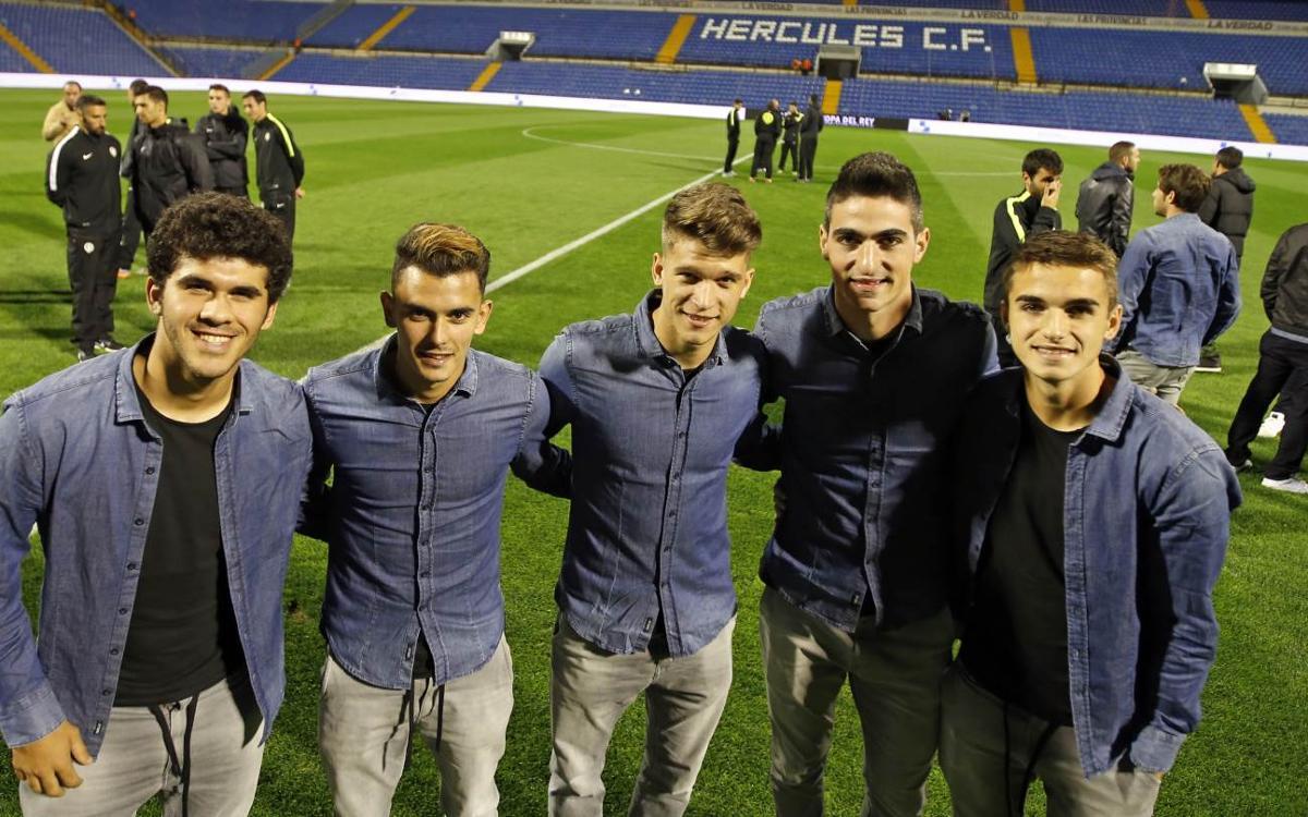 Aleñá, Carbonell, Borja López, Nili y Cardona debutan oficialmente con el primer equipo