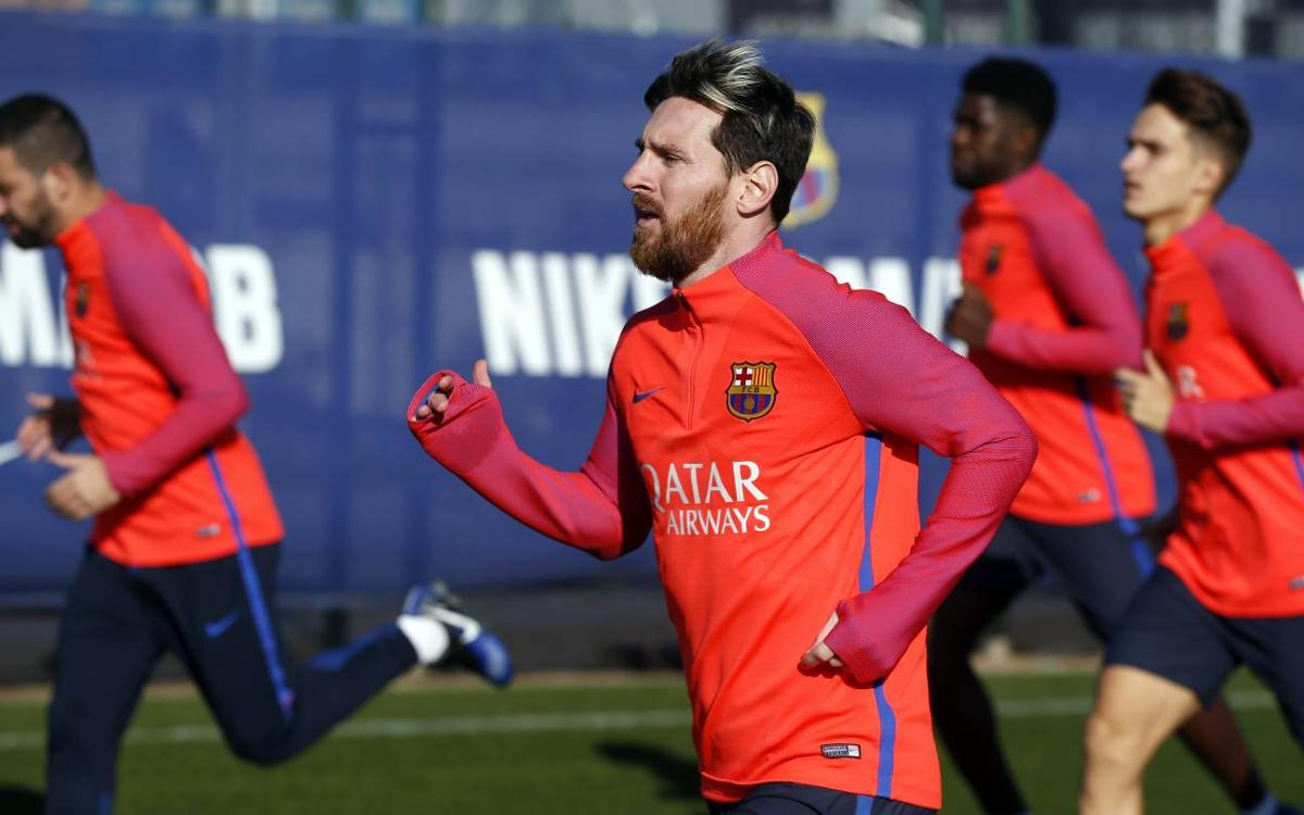 FC Barcelona's first team will be back in training on the 30th of December