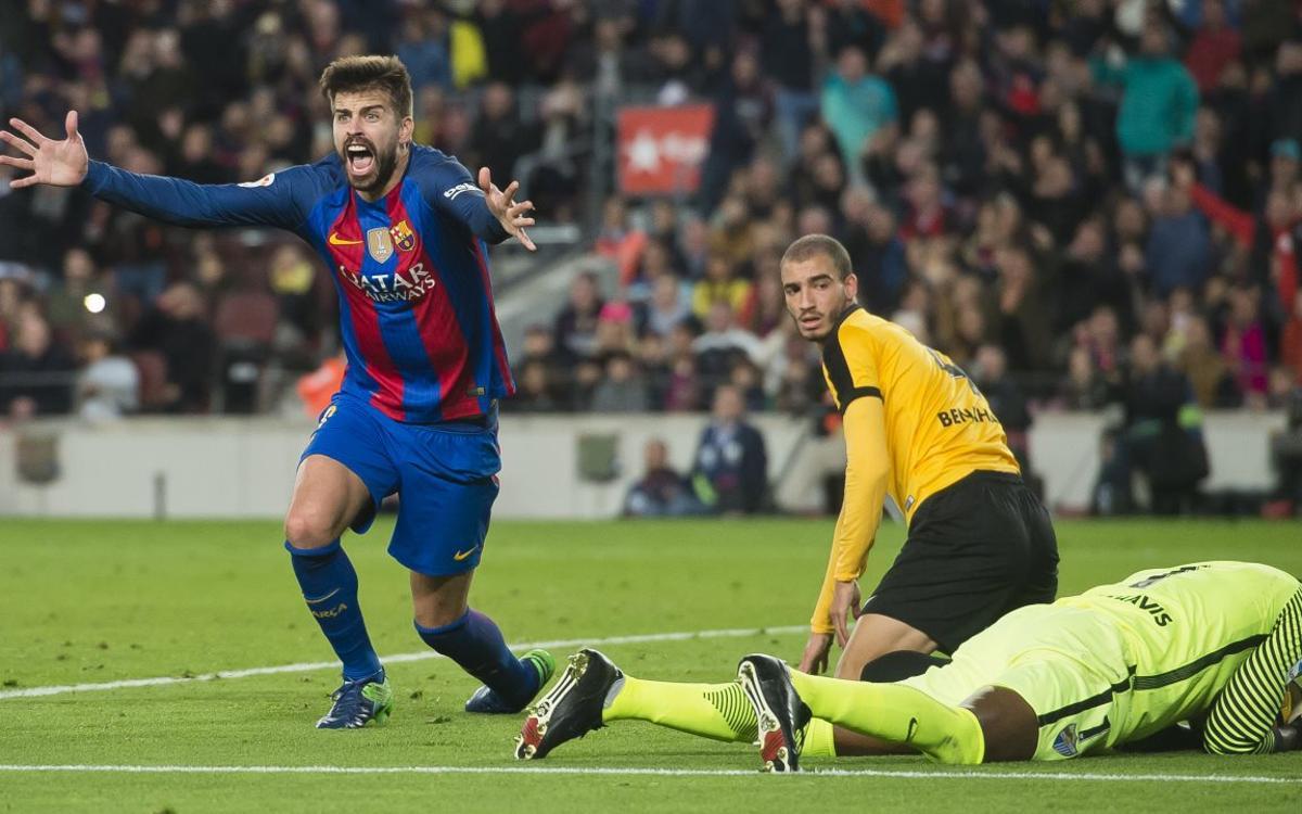 """Gerard Piqué: """"A vegades la pilota no vol entrar"""""""