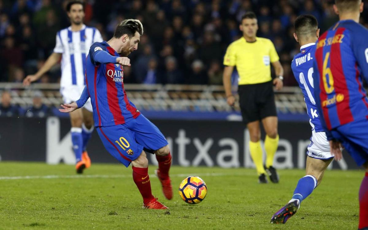 Real Sociedad v FC Barcelona: Anoeta battle ends even (1-1)