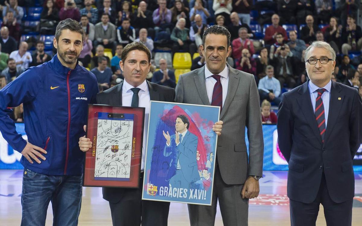 El Barça Lassa homenajea a Xavi Pascual