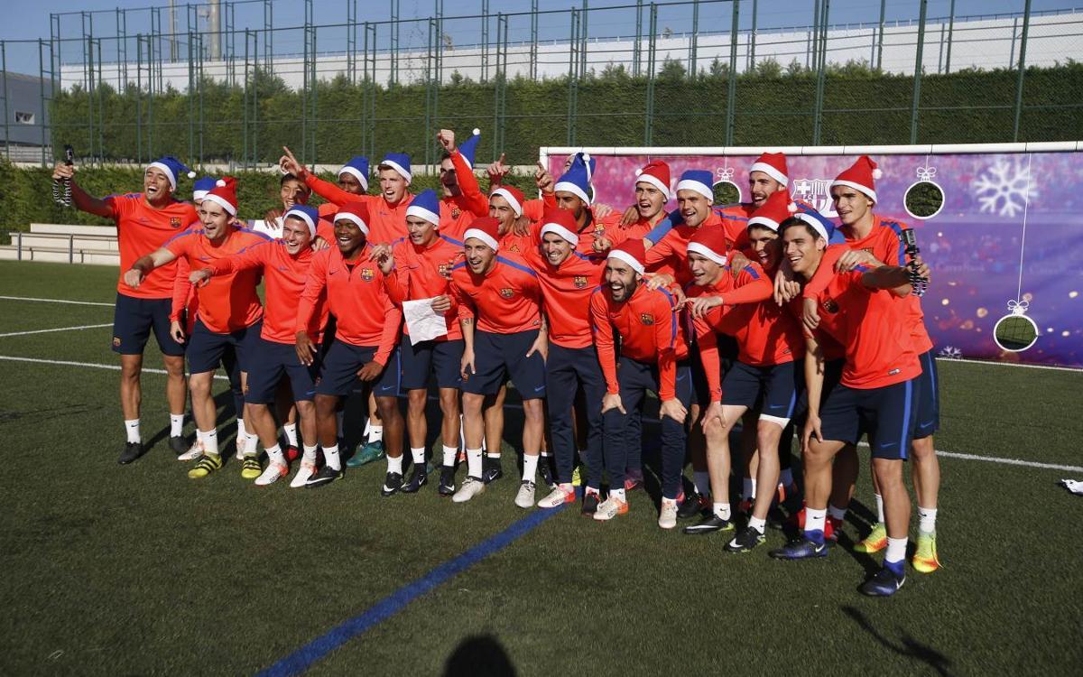 La felicitació més original del Barça B