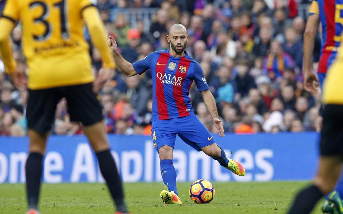 Mascherano llega a los 300 partidos con el FC Barcelona