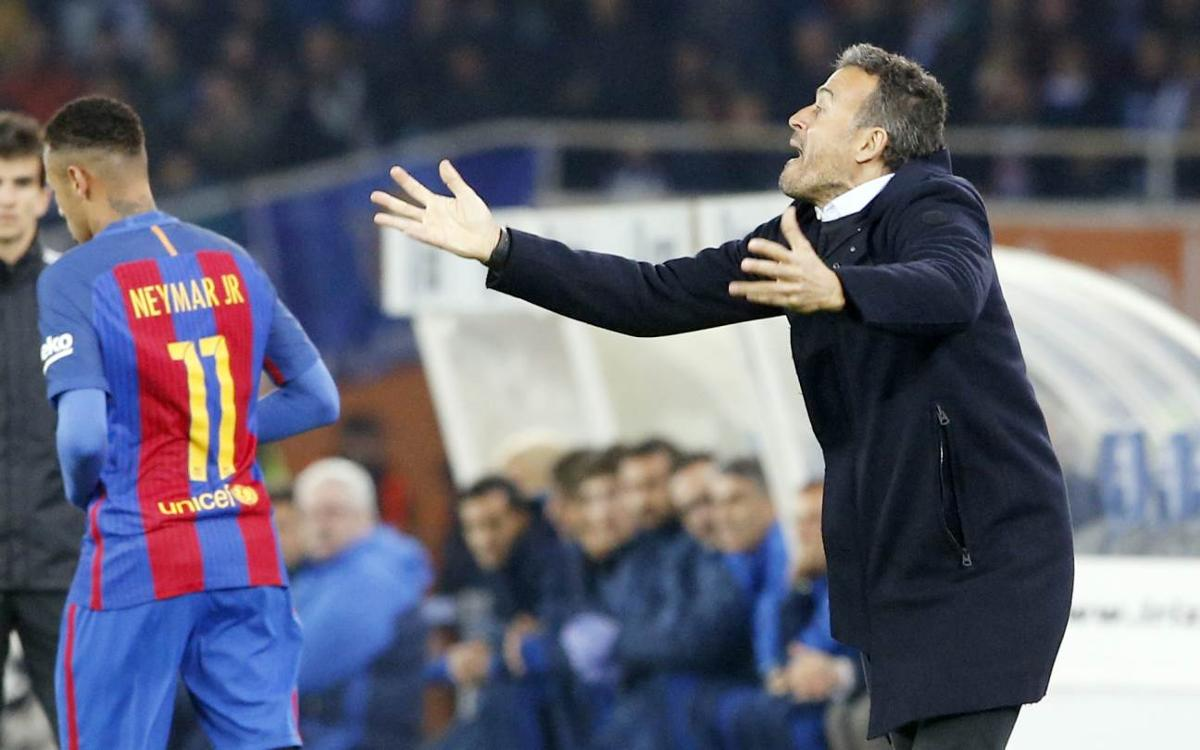 Luis Enrique: Real Sociedad were superior