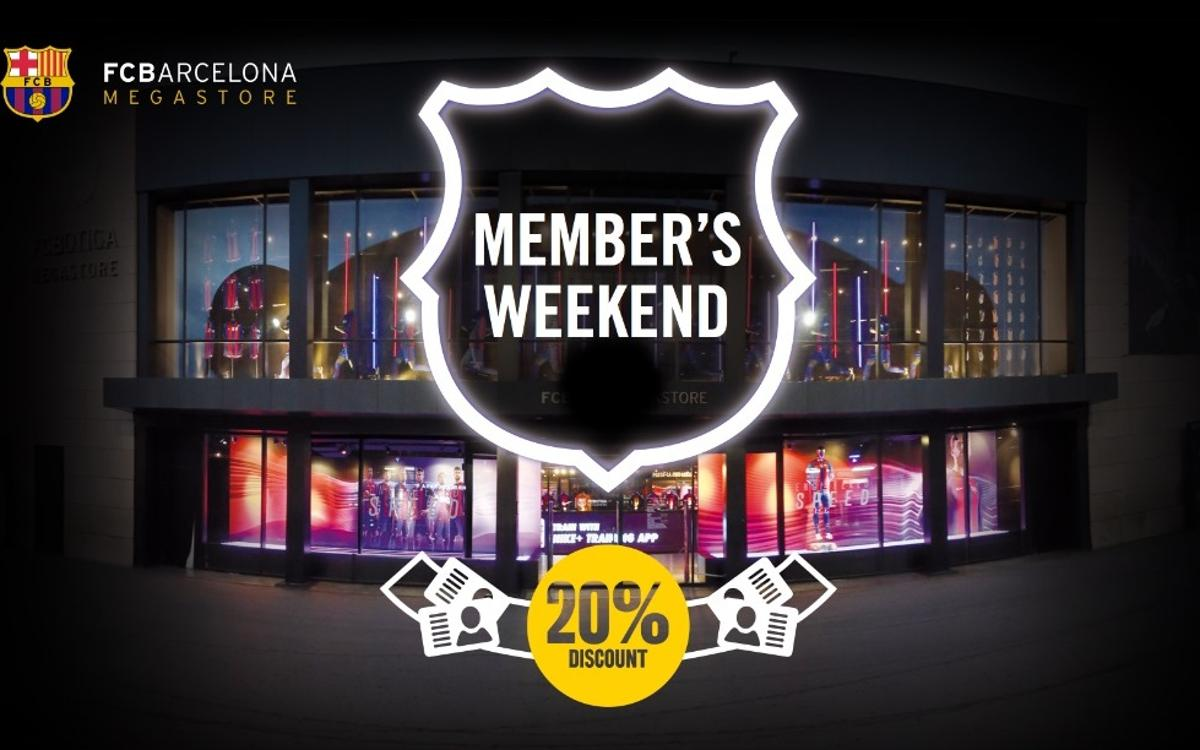 FCB Megastore: Special discounts for members on 19 and 20 November