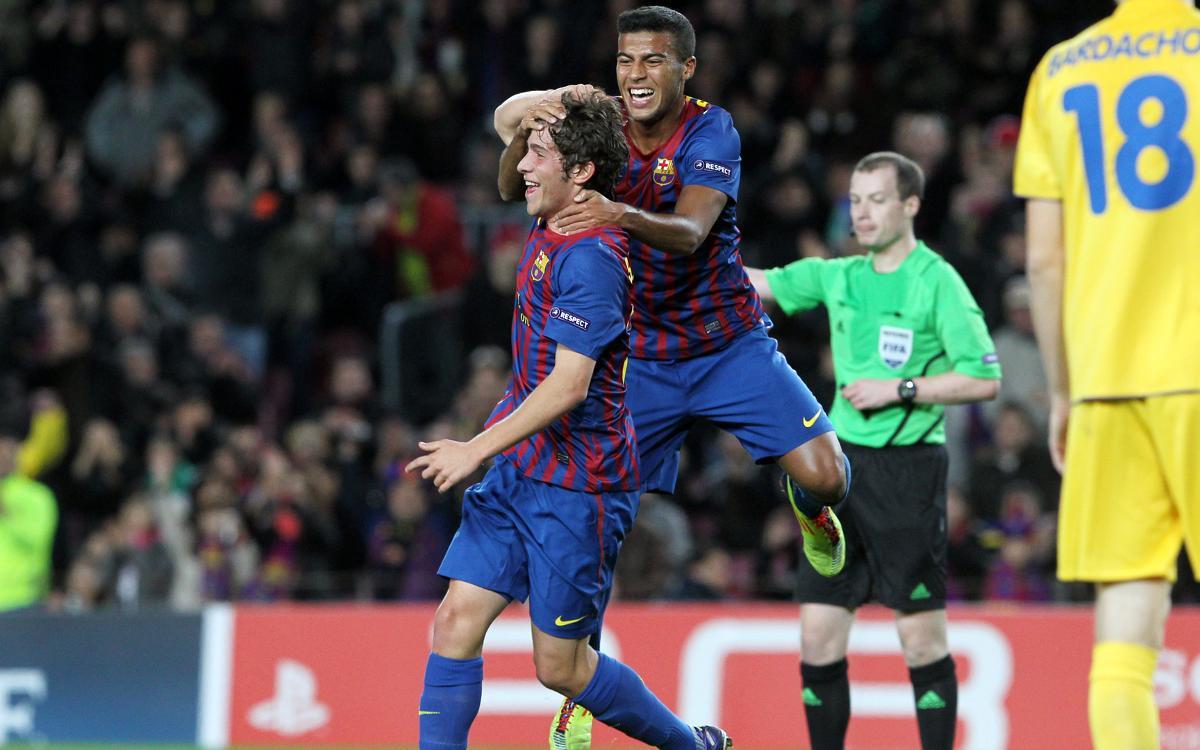 Se cumplen 5 años del primer gol de Sergi Roberto