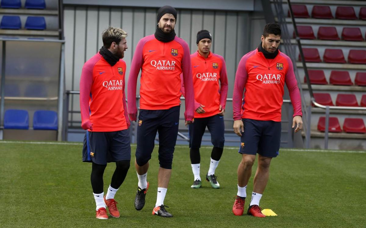 Last session before the derby against Espanyol