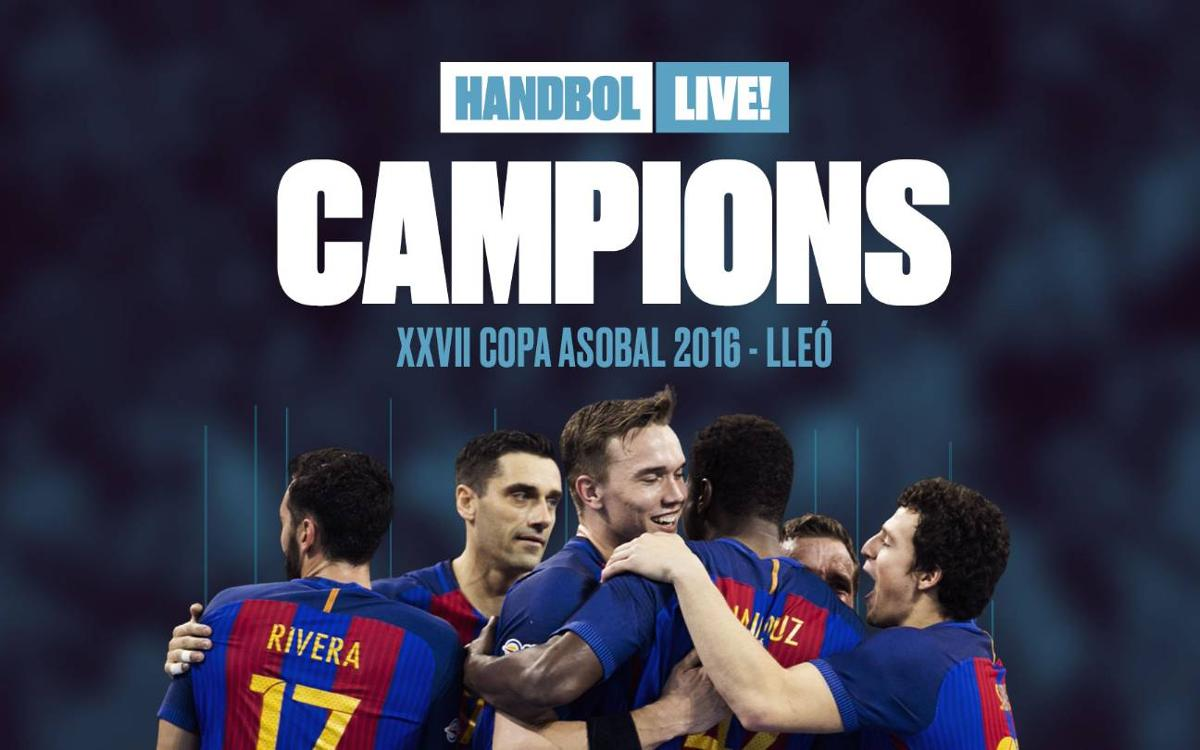 Barça claim 12th Asobal Cup with 30-25 win over BM Granollers