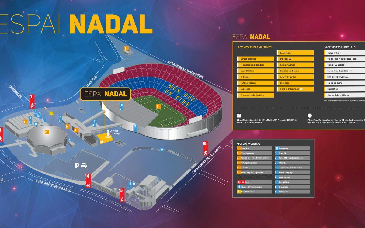 El Espai Nadal, del 21 de diciembre al 5 de enero en el Camp Nou