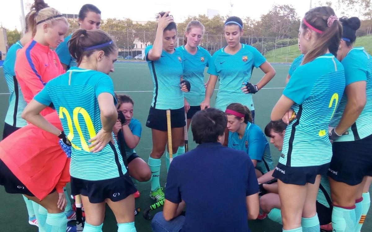El Barça de hockey hierba femenino consigue la primera victoria
