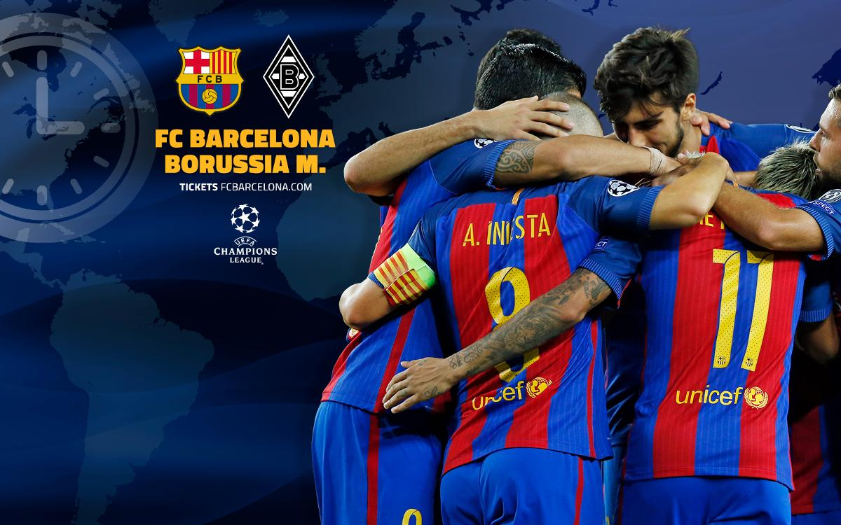 When and where to watch FC Barcelona v Borussia Mönchengladbach