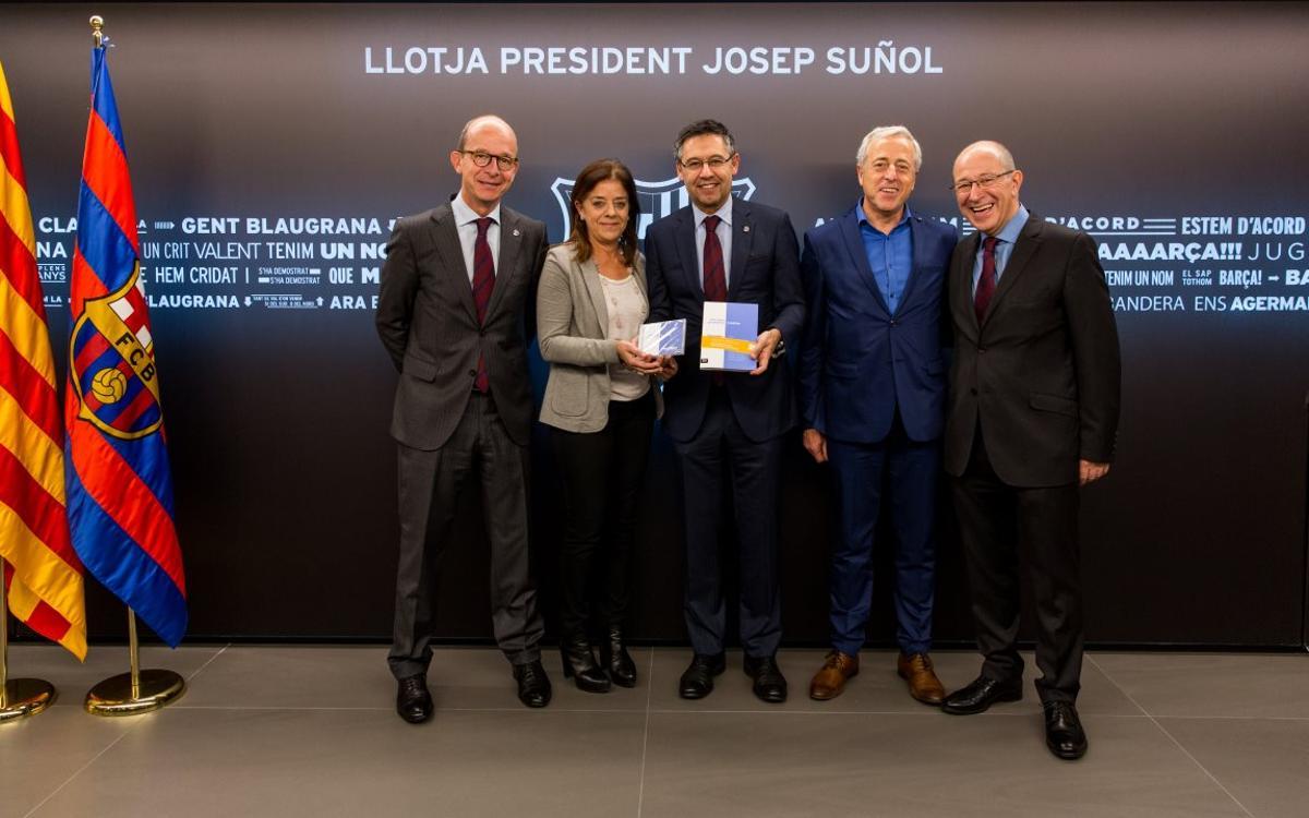 El Barça dóna suport a 'La Marató'