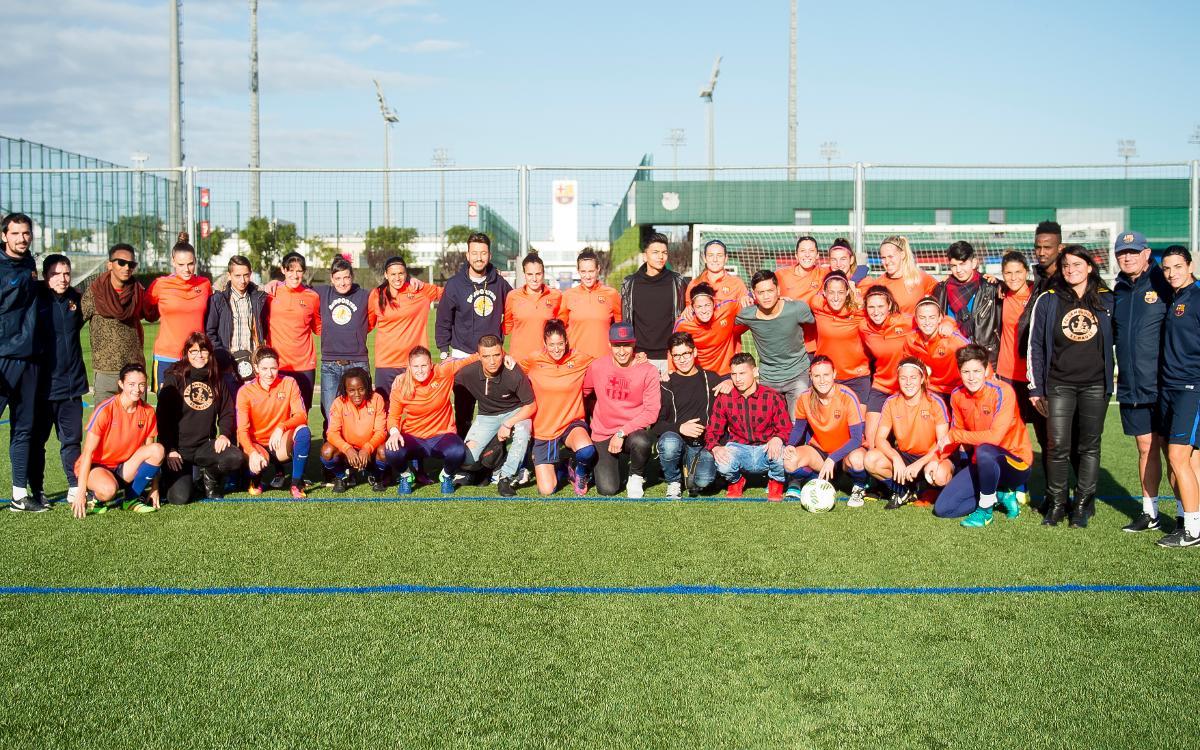 El FC Lampedusa Sankt Pauli visita el Barça Femení