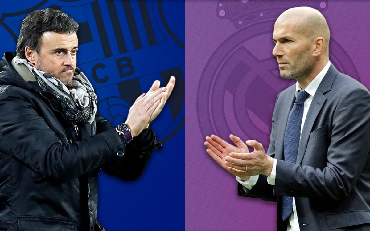 Luis Enrique i Zidane: nou cara a cara a les banquetes