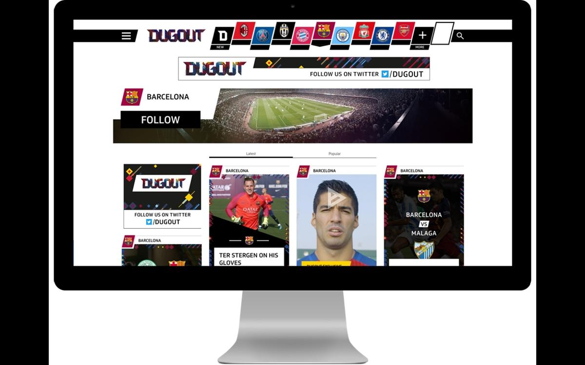 FC Barcelona open their new channel on Dugout