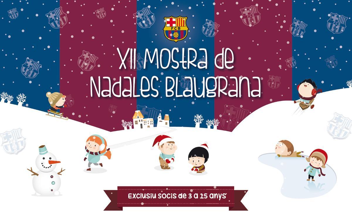 XII Mostra de Nadales Blaugrana per a socis de 3 a 15 anys