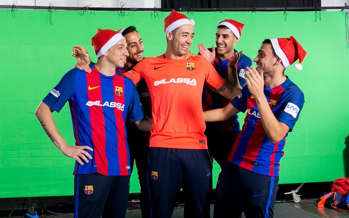 El making of de la felicitación de Navidad del Barça Lassa de Fútbol Sala