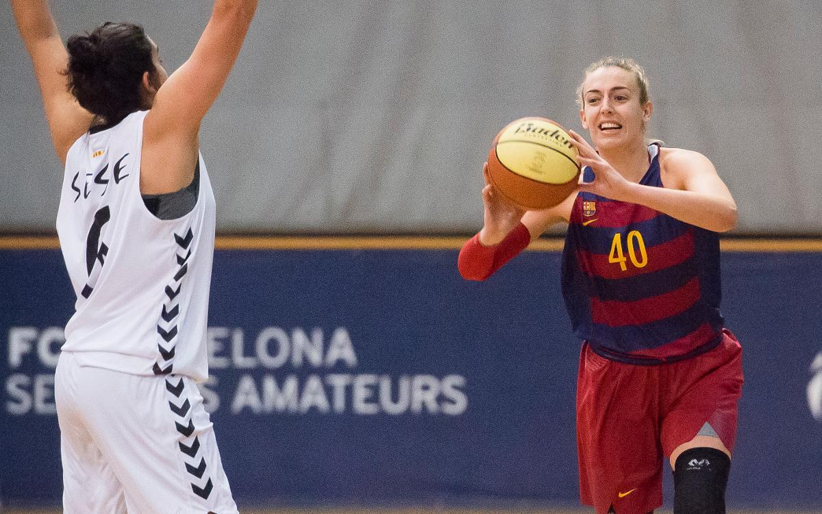 Treballada victòria del Barça CBS a la pista del Cerdanyola (45-50)