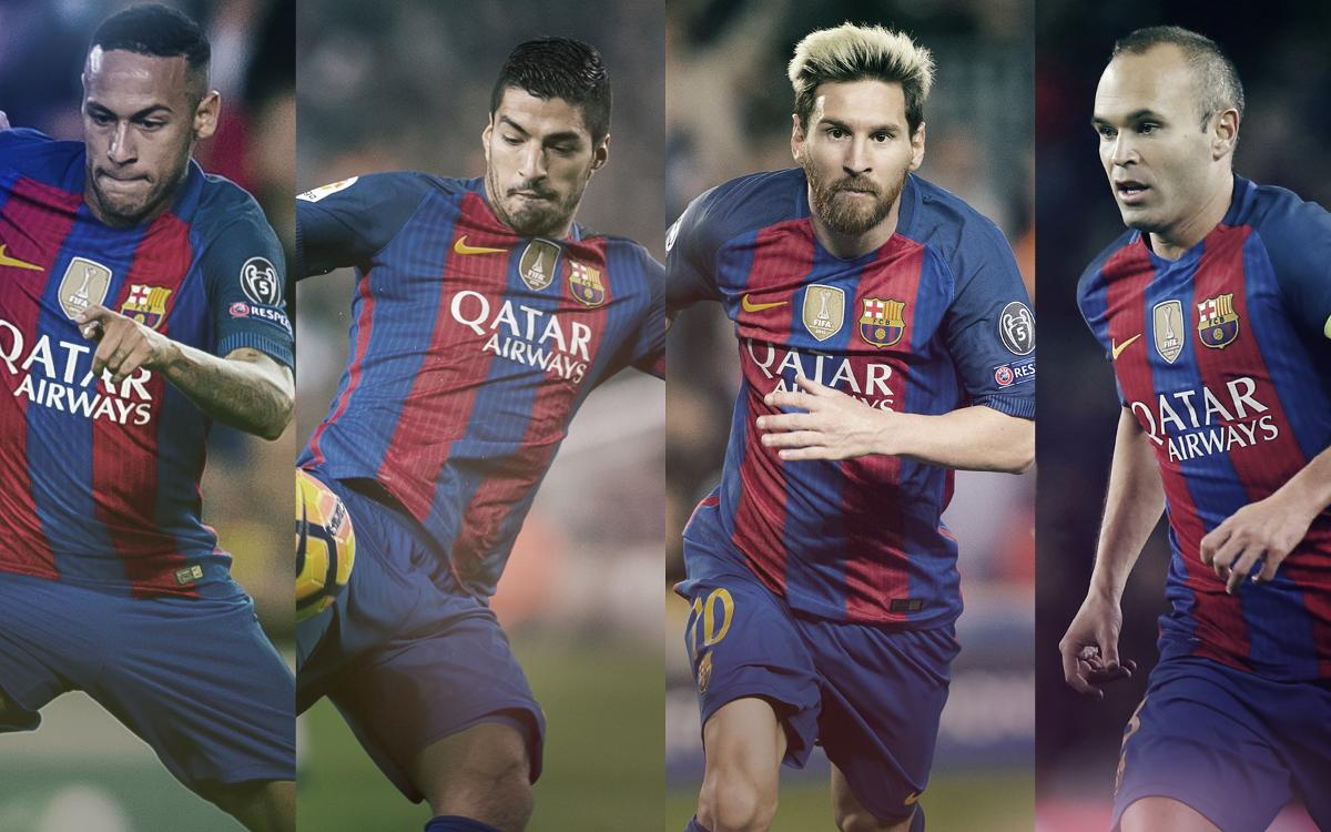 Four FC Barcelona players — Messi, Neymar Jr, Suárez and Iniesta — on shortlist for The Best FIFA Men's Player 2016 award