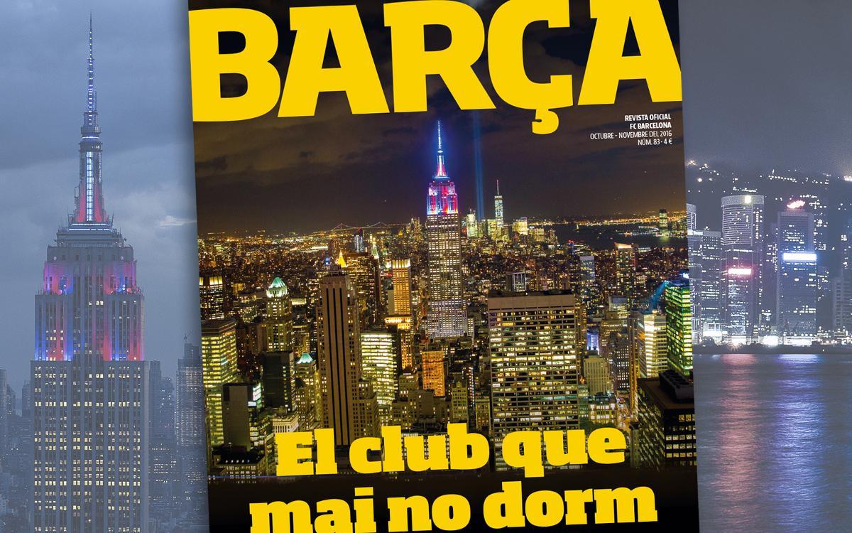 La 'Revista Barça' analiza la expansión global del FC Barcelona