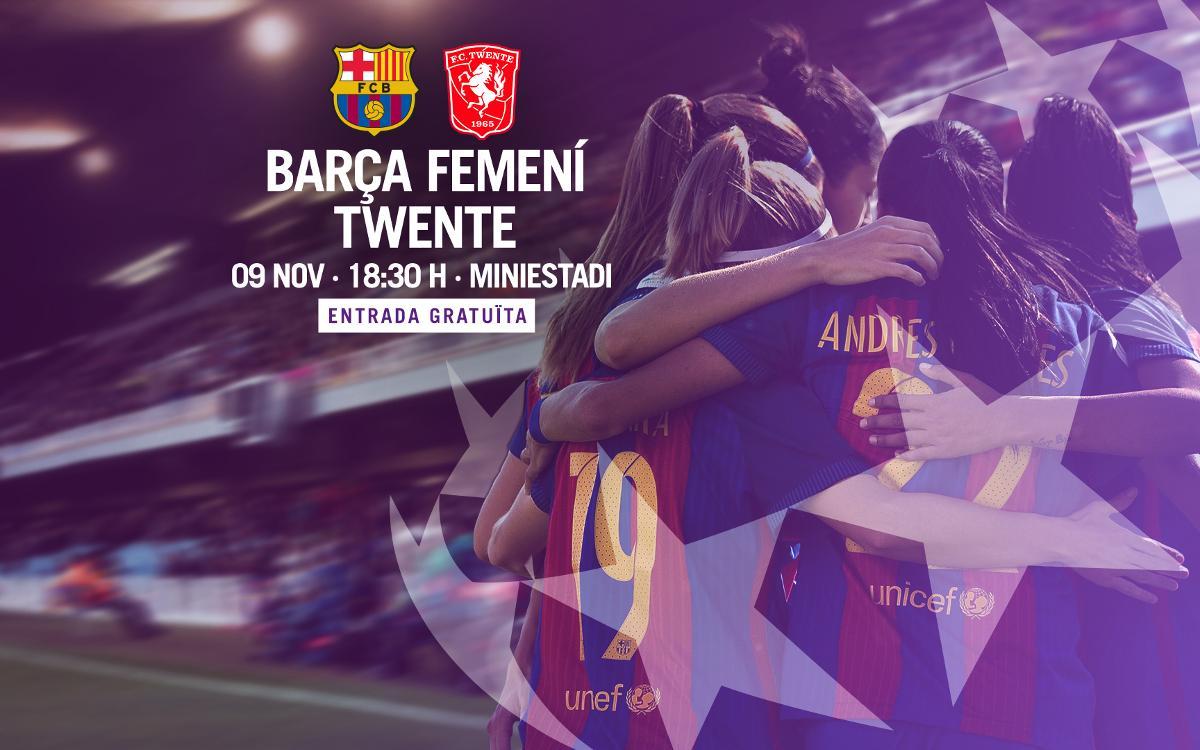 FC Barcelona Femenino - FC Twente Vrouwen (previa): A repetir la historia