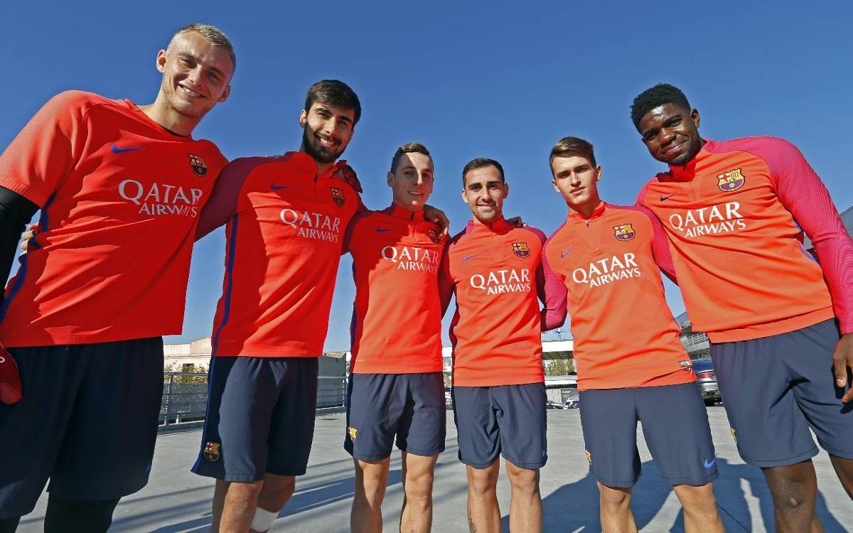 Les six recrues de cette année, dont Umtiti et Digne, titulaires en Ligue des Champions