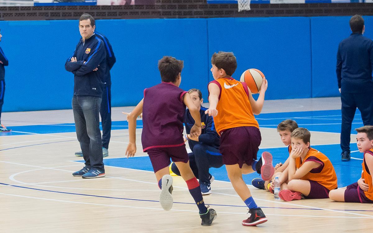 El Campus de Nadal de la FCBEscola inaugura la secció de bàsquet
