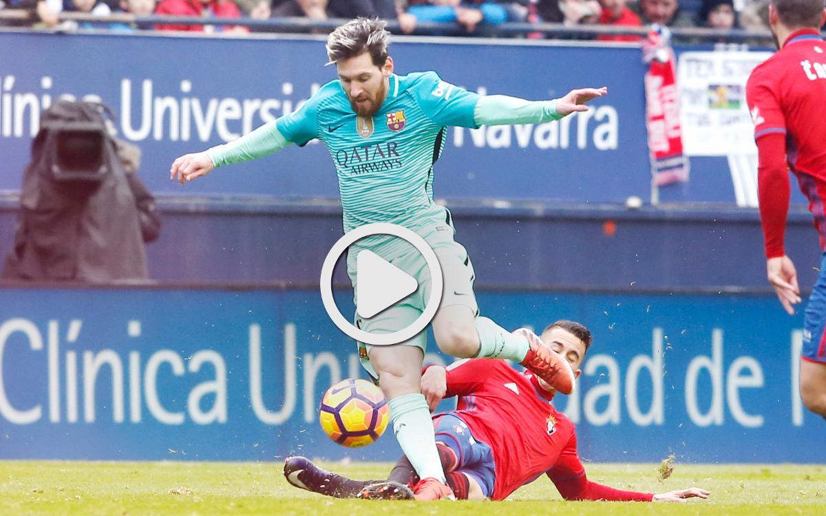 Le résumé d'Osasuna - FC Barcelone, en vidéo (0-3)