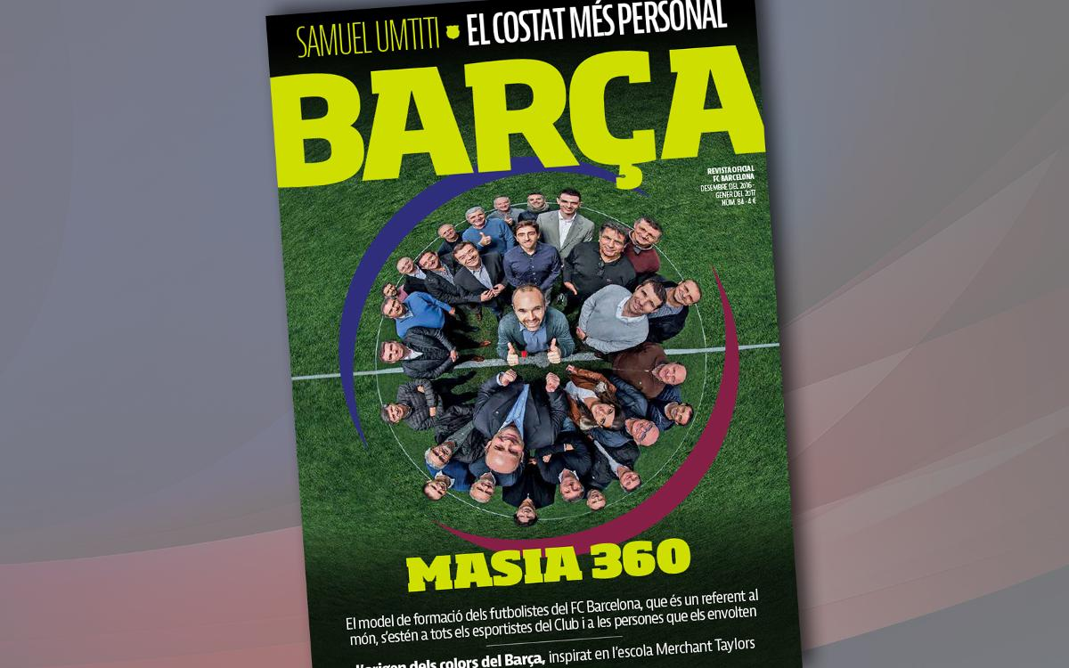 Masía 360, protagonista de la 'Revista Barça'