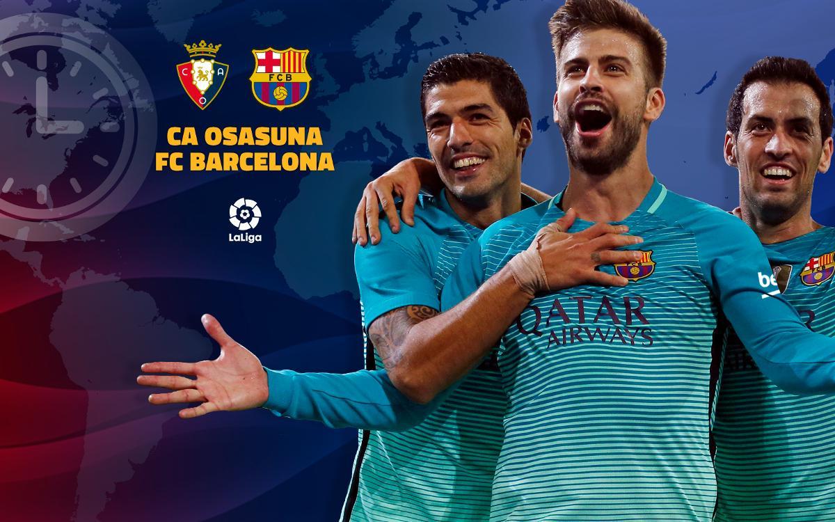 When and where to watch Osasuna v FC Barcelona