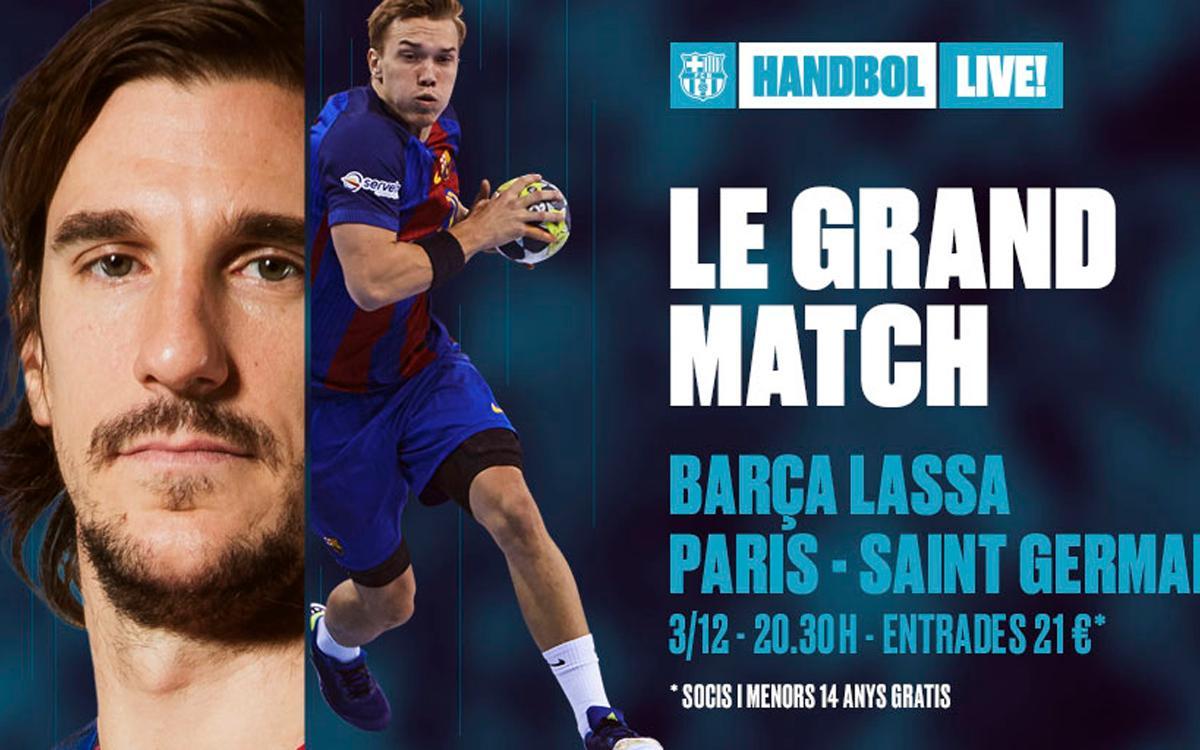 Barça-PSG: Handbol d'alt voltatge al Palau Blaugrana