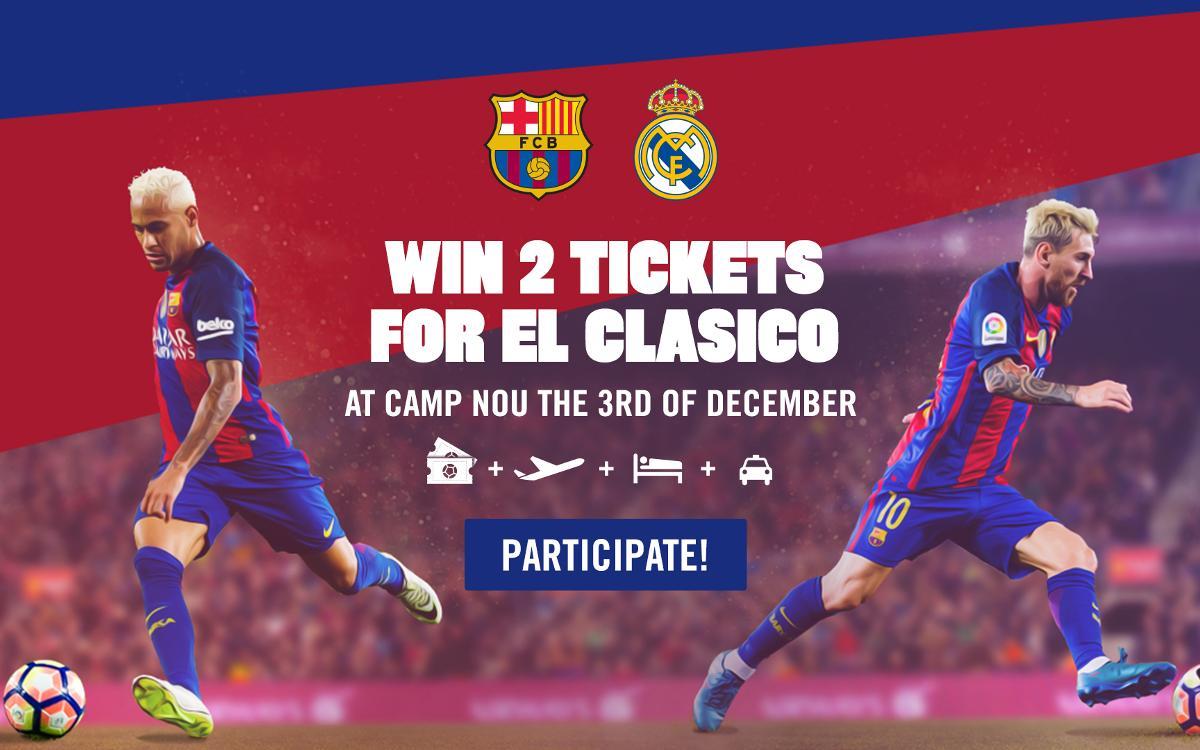 Win a trip to see El Clásico at Camp Nou