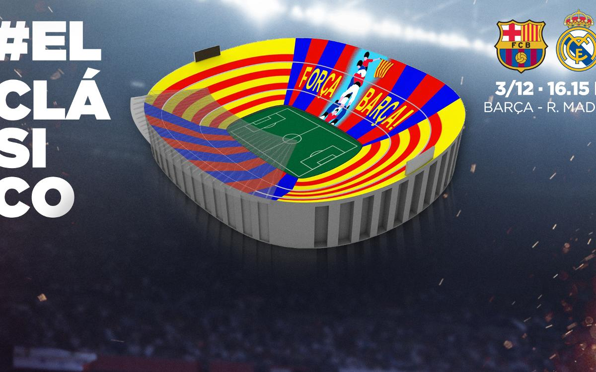 FC Barcelona presents a mosaic with a difference for Saturday's Clásico