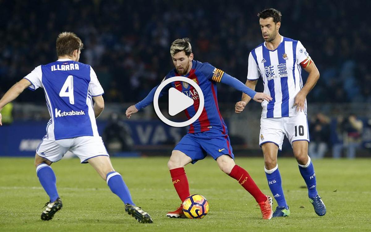 Le résumé de Real Sociedad - FC Barcelone, en vidéo (1-1)